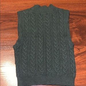 Olive Green Knitted Crop